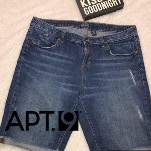 APT.9 woman's denim bermuda shorts